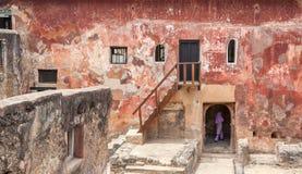 历史耶稣堡蒙巴萨,肯尼亚的废墟 免版税库存照片