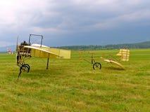 历史航空器详细观看 库存照片