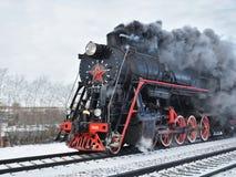历史蒸汽引擎火车 库存照片