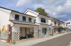 历史街道马塔莫罗斯长野日本 免版税库存照片