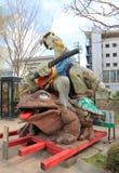 历史街道马塔莫罗斯长野日本 免版税库存图片