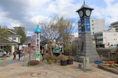 历史街道马塔莫罗斯长野日本 免版税图库摄影