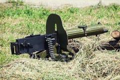 历史被装载的机枪 免版税库存图片