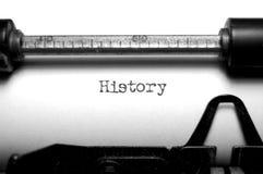 历史记录 免版税库存照片