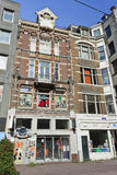 历史豪宅的,阿姆斯特丹中心商店。 库存照片