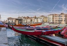 历史赛船会,威尼斯,意大利 库存照片