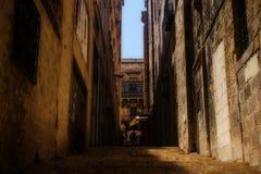 历史路在瓦莱塔,马耳他 免版税库存图片