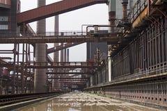 历史采矿业Zollverein 免版税库存图片