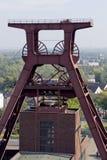 历史采矿业Zollverein 免版税库存照片