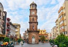 历史钟楼在Canakkale,土耳其 图库摄影