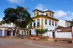 历史镇Tiradentes巴西的街道 免版税库存图片