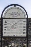 历史问题地图的在Amlwch口岸的兴趣在Anglesey,威尔士,英国 免版税库存照片