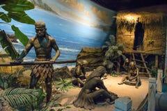 历史雕塑在厦门博物馆 免版税库存图片