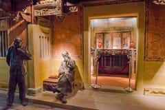 历史雕塑在厦门博物馆 免版税库存照片