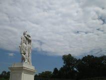 历史雕塑在维也纳 库存图片