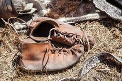 历史鞋类 库存图片