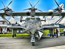 历史飞机D-24 ATT显示了在ILA 2014年 免版税库存图片