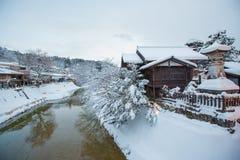 历史高山市镇的老区在日本 免版税图库摄影