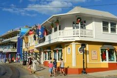 历史建筑在乔治市,开曼群岛 库存图片