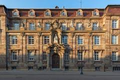 历史建筑在晚上光的,德国施派尔 免版税图库摄影