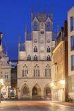 历史建筑在芒斯特,德国 免版税库存图片