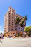 历史建筑在迈阿密的艺术装饰区 免版税库存图片