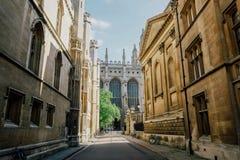 历史建筑学在剑桥 免版税图库摄影