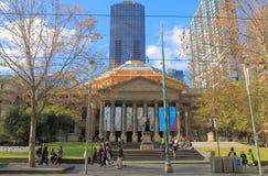 历史建筑学州立图书馆墨尔本澳大利亚 免版税库存照片