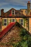 历史建筑屋顶视图,查尔斯顿南卡罗来纳 免版税库存照片