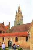 历史建筑布鲁日比利时 免版税库存图片