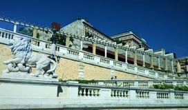 历史建筑的看法在施万高德国 图库摄影