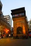 历史建筑老开罗在晚上,埃及 库存图片