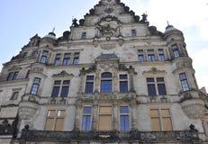 历史建筑-从德累斯顿的Georgenbau在德国 图库摄影
