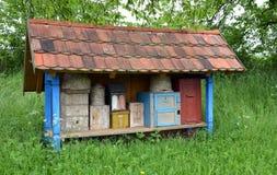 历史养蜂场从19世纪 免版税库存图片