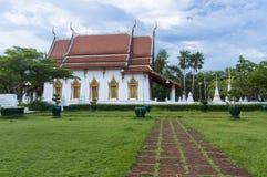 历史Amphawa寺庙 免版税库存图片
