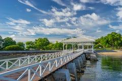历史Asdang白海桥梁, Sichang海岛,泰国 库存图片