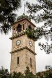 历史Balıkesir尖沙咀钟楼在土耳其 库存图片