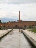 历史buidling一家陶瓷工厂在阿威罗,葡萄牙 库存图片