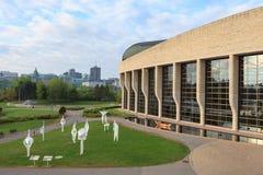 历史Candian博物馆在一个春天早晨 免版税库存图片