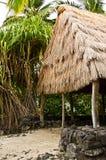 历史honaunau国家o公园pu uhonua 库存照片