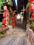 历史lijiang城镇 免版税库存图片