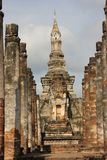 历史mahathat公园sukhothai wat 免版税库存照片