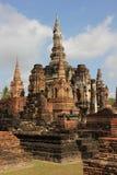 历史mahathat公园sukhothai wat 免版税库存图片