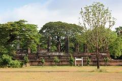 历史mai公园sukhothai wat 库存照片