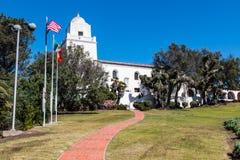 历史Presidio公园在圣地亚哥,加利福尼亚 图库摄影