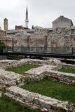 历史Taslihan废墟、萨拉热窝、波斯尼亚和Herze 库存照片
