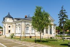 历史Teodor Cincu博物馆在泰库奇 图库摄影