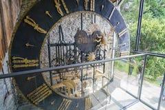 历史Zeitturm塔的大时钟 免版税库存照片