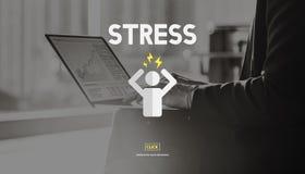 压力处理紧张忧虑张力修复概念 库存照片