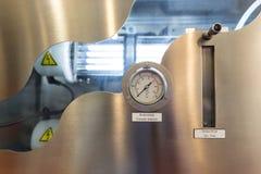 压力指示器和气体流程测量 免版税库存照片